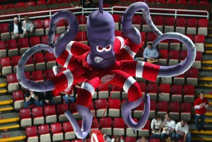 Of course, you'd think that the Detroit Red Wings would have a more appropriate mascot than a cartoonish purple octopus?  Of course, it has something to do with a team legend but still, it's a fucking purple octopus! It has absolutely nothing to do with Detroit, wings, or the color red. Also, it's kind of scary looking.