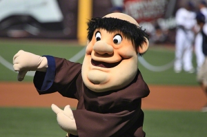 "Now I know that the San Diego Padres derive their name from the Franciscan Friars and that ""padre"" is another thing to call a priest. Yet, I wonder how many people firmly believe that the Swinging Friar is an insulting caricature of monks? I mean they were pretty awesome guys in the Middle Ages, not fat idiots akin to Friar Tuck!"