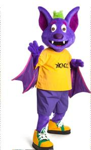 Of course, before R. B. worked as a mascot for ACC, he was once a sidekick to the Count on Sesame Street. Of course, they didn't see eye to eye and had a big falling out.