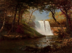 "Minnesota's Minnehaha Falls was depicted in Henry Wadsworth Longefellow's poem ""The Song of Hiawatha."" It's located on Minnehaha Creek which is a tributary of the Mississippi River and its name means, ""laughing water."" It's about 53 ft high."