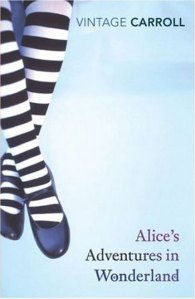 I'm sure a girl's legs in black and white striped tights is either going to remind readers of novels for teenage girls or the Wicked Witch of the West from The Wizard of Oz. Or maybe this book is trying to tell us that maybe Alice is the Wicked Witch of the West, which is really disturbing.