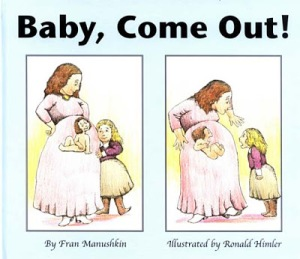 Never in my lifetime, I have seen depictions of pregnancy in children's books look so creepy. I mean how could the the baby be receptive to its older sister's screams from in utero? And why isn't it situated in a fetal position?
