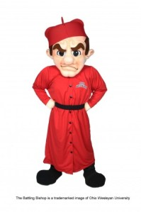 Now this guy is a mascot for a Methodist college yet he seems more suited with being a mascot for the Spanish Inquisition. Except that the real Spanish Inquisition would probably burn him at the stake after being convicted of committing the heresy of being an extremely lame mascot.
