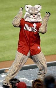 For God's sake, I'm sure that looks like something I'd see in Pittsburgh during a furry convention. That costume is simply terrifying if you know what I mean and is kind of an insult to bobcats.