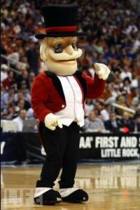 Just the mascot a college needs, another old guy resembling a 19th century circus ringmaster. Not as bad like Demon Deacon but still more grandfatherly than intimidating.