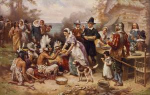 Massachusetts was the site of the first Thanksgiving as a three day feast between the Pilgrims and Indians after the latter taught the former how to survive through after they went through a harsh winter that killed about half of them. Unfortunately, their friendship wouldn't last and this tradition wasn't repeated until Abraham Lincoln established Thanksgiving as a national holiday in 1863.