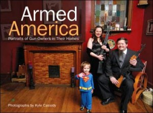 Now I suppose the couple on the cover are very nice people despite that they own a couple of assault weapons and see nothing wrong with sitting with them for a photograph in front of their 3 year old kid. Just lovely! Hope that kid doesn't grow up to shoot up a high school because I know exactly what guns he'll use.