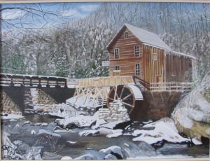 West Virginia's most famous site is the Glade Creek Gristmill which was built in 1976 by combining parts of three other West Virginia Mills as well as serves as a replica of the original nearby Cooper's Mill. It's described as a living, working monument to the more than 500 mills that were once located throughout the state.