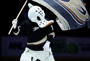 Well, he's basically what you'd have if Jason Voorhees was played by Daffy Duck and he looks as if he's out for blood. Give him a machete and any hockey game can become a duck reenactment of Friday the 13th.