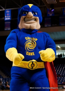For one, there are no hurricanes in Oklahoma, yet Tulsa probably calls themselves on the age old belief that the tornado nickname was taken. Second, Captain Cane was a former student who transformed to this in an accident involving storm generated electricity. Yet, he's Tulsa's mascot since he couldn't go back to work as an electrician and that he was too lame to join the Avengers.