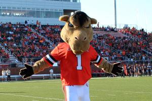 Now having a camel mascot is perfectly fine. After all, camels can be  Yet, naming him Gaylord is just, well, lame. Guess Gaylord has become Campbell's fearsome mascot since he spent his childhood being beat up at school for being named Gaylord.