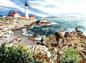 Maine is well known for its jagged rocky coastline and lighthouses that create picturesque scenery that attracts many tourists and filmmakers. A lot of movies set in New England often feature a jagged coast like Maine's.