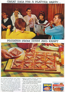 Because if all that smoking in college doesn't kill you in the future, this spam pizza dish certainly will. I mean a 2 oz. serving contains 15 g of fat,  174 calories, and 767 mg of sodium. Basically, eat enough on it and you'll be a joke of a Monty Python sketch and die from cardiovascular disease.