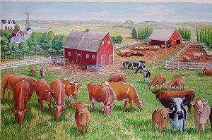 Nebraska has a large agricultural sector and is an important producer of beef, pork, corn, soybeans, and sorghum. During the days of the cowboys, it was also a place where they would drop off the cattle for their final journey to the Chicago slaughterhouses.