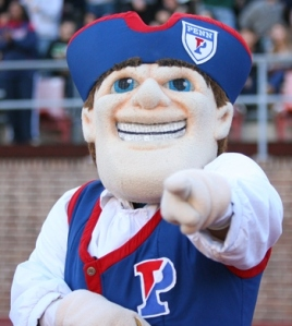Now I know Penn probably uses a Quaker mascot since PA was founded by them. Yet, Quakerism is a religion that's founded on pacifism while many sports can erupt into fights. Perhaps the Quaker mascot should just stick to promoting oatmeal instead.