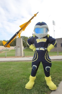 """Now there's nothing wrong with calling your team """"the Rockets."""" But holy Toledo, to have a mascot that more or less belongs in a Saturday morning cartoon from the 1990s is another matter. Seriously, what the hell Toledo?"""