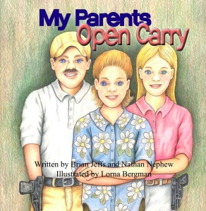 Not surprisingly, this cover illustration is kind of creepy as if the girl and her family seem to want to kill you on site. Also, this idea was conceived when the two authors couldn't find any pro-gun children's books. Well, no shit, Sherlock, because guns are dangerous things and open carry is a lifestyle that should never be promoted in a kids' book. I mean there's nothing responsible and safe about open carry and all it's going to do is to make people afraid of you.