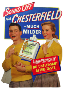 Yeah, these perky kids may look cool, but be warned this is an ad that's promoting a product that should never be sold to minors at all. Yet, since this is before the later 1960s, tobacco might as well get as many kiddies hooked as it can. Expect these kids to spend the rest of their lives on a respirator with their lungs full of tar.