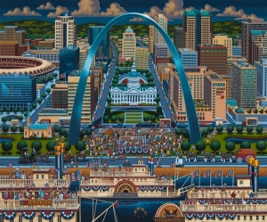 Missouri's Gateway Arch in St. Louis is a monument of US westward expansion and the centerpiece of the Jefferson National Expansion Memorial. At 630ft high it's the tallest man made monument in the Western Hemisphere, the world's tallest Arch and an international symbol of Saint Louis.