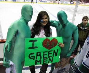 Now having a terrifying killer whale mascot was one thing. But these guys, why do they even exist? Is Vancouver getting desperate for more mascot appeal? These green men are freaky and seem rather obnoxious. Seriously, what the hell Vancouver?