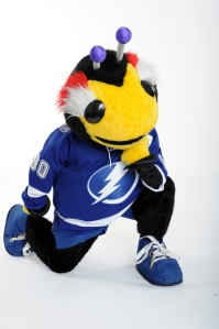 You'd think a team called the Lightning would have a rather badass mascot, especially if its named Thunderburg. Yet, this mascot either reminds me of a man-sized but harmless insect you can trust your children with or a harmless insect-like humanoid space alien that won't frighten kids.