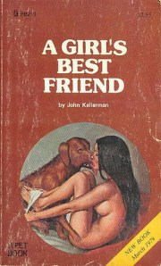 Sure a dog may be a girl's best friend but this image is kind of disturbing and sort of suggest that they may be more than friends. Of course, this is known as bestiality and animal abuse.