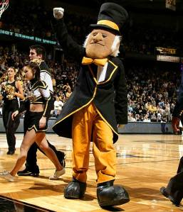 "Look, if you want to have ""Demon Deacons"" as your school mascot, at least have him look like an actual demon instead of an elderly late 19th century circus ringmaster."