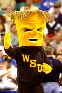 WuShock is supposed to represent shock of wheat. Yet, this doesn't lead to people outside Wichita think that he's anthropomorphic electricity or a secret lovechild of the Thing from a sexual encounter with a toilet brush. Still, it's kind of creepy if you ask me.
