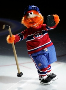 Youppi was actually a mascot for the Montreal Expos before moving to the Canadiens. Still, he kind of reminds me of a lovechild you'd expect between Bigfoot and Carrot Top. Or perhaps he's the product of Yukon Cornelius hooking up with the Abominable Snowman from Rudolph the Red Nose Reindeer TV special.