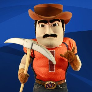 Hmm. A prospector mascot with a mining pick. Unfortunately his eyes say that he has rage issues and lacks the self-restraint not to use it as a weapon. And he has no remorse as well as sees no need to seek counseling.