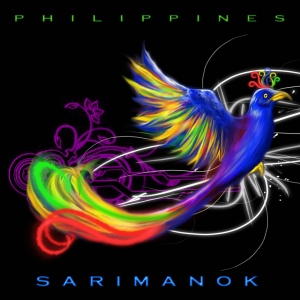 The legendary Sarimanok is a beautiful rainbow colored bird as well as a symbol of the Maranao people of the Philippines. Still, it tends to be depicted as a chicken nonetheless leading some to suspect it as created by someone on psychedelic drugs.