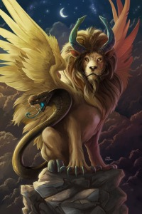 Despite the butch appearance of a mane, the Chimera is actually a girl. Don't ask me I get this tidbit from Greek mythology here. Still, I'm sure the Chimera's masculine appearance won't get her labeled as a member of a lioness softball team or associated with the East German lionesses.