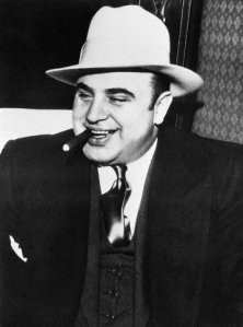 Now this is the 1920s Prohibition gangster we all remember unless we're under 5 or hiding under a rock somewhere. Still, he had great fashion sense.
