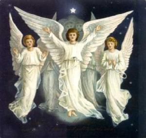 Now while the popular imagery of angels is depicted in this picture, the original imagery of them based on what you see in the Bible are pretty funky. For instance, cherub aren't those fat little angels you see in Renaissance paintings. They more or less resemble rock music guitarists than those.