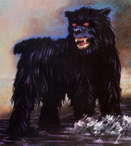 Now while most normal black dogs are relatively harmless, this Black Dog can be a hound out of hell. It's scratch marks can instill burns on skin and is prone to bring severe injury on humans. If you see a black dog with glowing red eyes in your neighborhood, you might want to call your local exorcist at best.