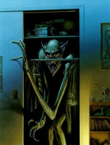 Yes, it's a boogeyman in that closet. No, I'm not sure if it works for Monsters Inc. or loves disco music but I will ask.