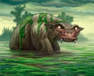 Sure there may be a few lush riverbeds and swamps in Australia but you don't want to venture in the waters with this creature giant hanging around, especially since it finds women and children delicious.