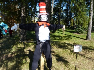 Not sure if the Cat in the Hat is guaranteed to scare crows. But since it's the most famous Dr. Seuss character, I'll put it in this post.