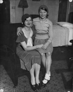 Young Elizabeth Blaesing with her mother Nan Britton. Though alleged to be Warren G. Harding's daughter, I don't think she bears any resemblance to the President. Still, Harding was known to be philanderer but might've been sterile.
