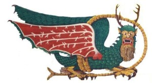 The Piasa is a legendary creature from Mississippian culture with a cliff image that was found by a French priest Father Jacques Marquette in 1673. However, we're not sure whether mythology from it was either ancient or just made up by a guy named John Russell.