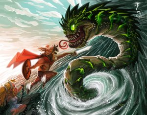 """Of course, """"release the Cetus"""" doesn't seem to be quite badass. Still, this is the monster that Perseus saved Andromeda from and not the Kraken which would make more mythological sense if it was featured in Thor."""