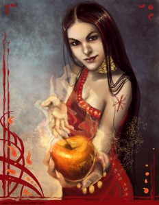 Eris is the goddess of discord known for basically throwing a golden apple at a wedding she wasn't invited to. This led to the Judgement of Paris and the Trojan War.