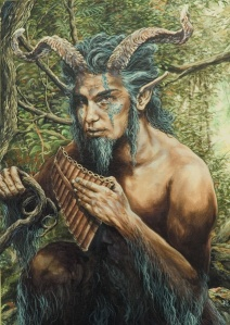 Of course, this satyr like god Pan is best associated with nature, pleasure, and sexuality who couldn't care less what goes on at Mount Olympus so much as it doesn't pertain to him. Still, out of the Greek pantheon, he's probably the one who'd most likely show up at Woodstock.