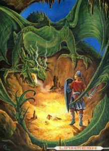 Basically, the story of Fafnir guarding a large treasure trove in a mountain only to be defeated by a little person would later be ripped of by J. R. R. Tolkein. Look it up, LOTR and Hobbit fans. Still, my parents aren't to fond of the Peter Jackson movies.