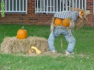 Sometimes scarecrows can have the poorest manners comparable to fratboys. Still, he should think of the children.