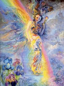 Iris is best known as the messenger to the gods and goddess of the rainbow. She links the gods to humanity and travels at wind speed from one end of the world to the other.