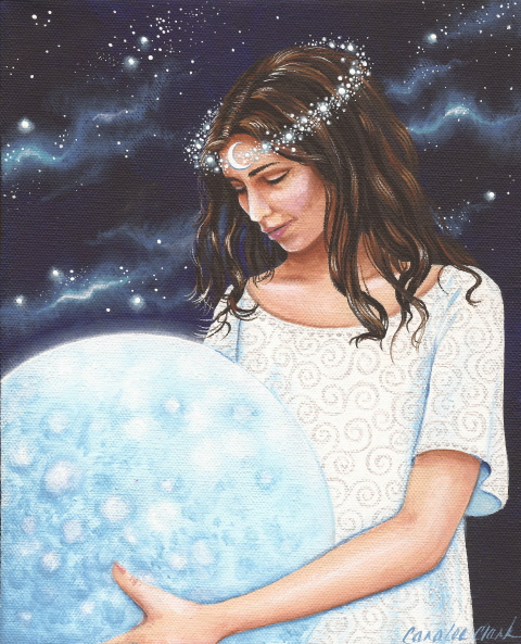 Selene Is The Goddess Of Moon Who Drives A Chariot Across Night Sky