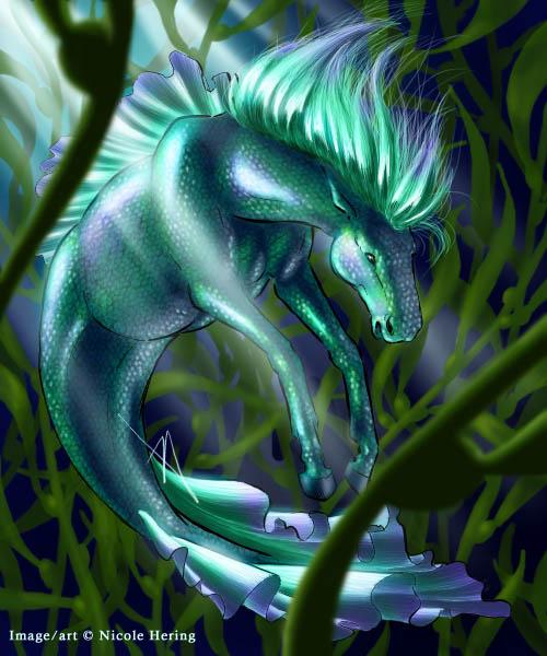 Mythical water horses - photo#24