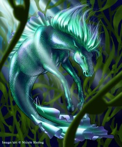 While the Kelpie is known to drown people to their deaths by offering pony rides, the Hippocampus is best known as being a chariot horse for Poseidon. Still, it has been known to help sailors and ships as well.