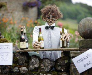 Still, you have to admit that making a scarecrow out of corks is a pretty good idea, especially if the display is